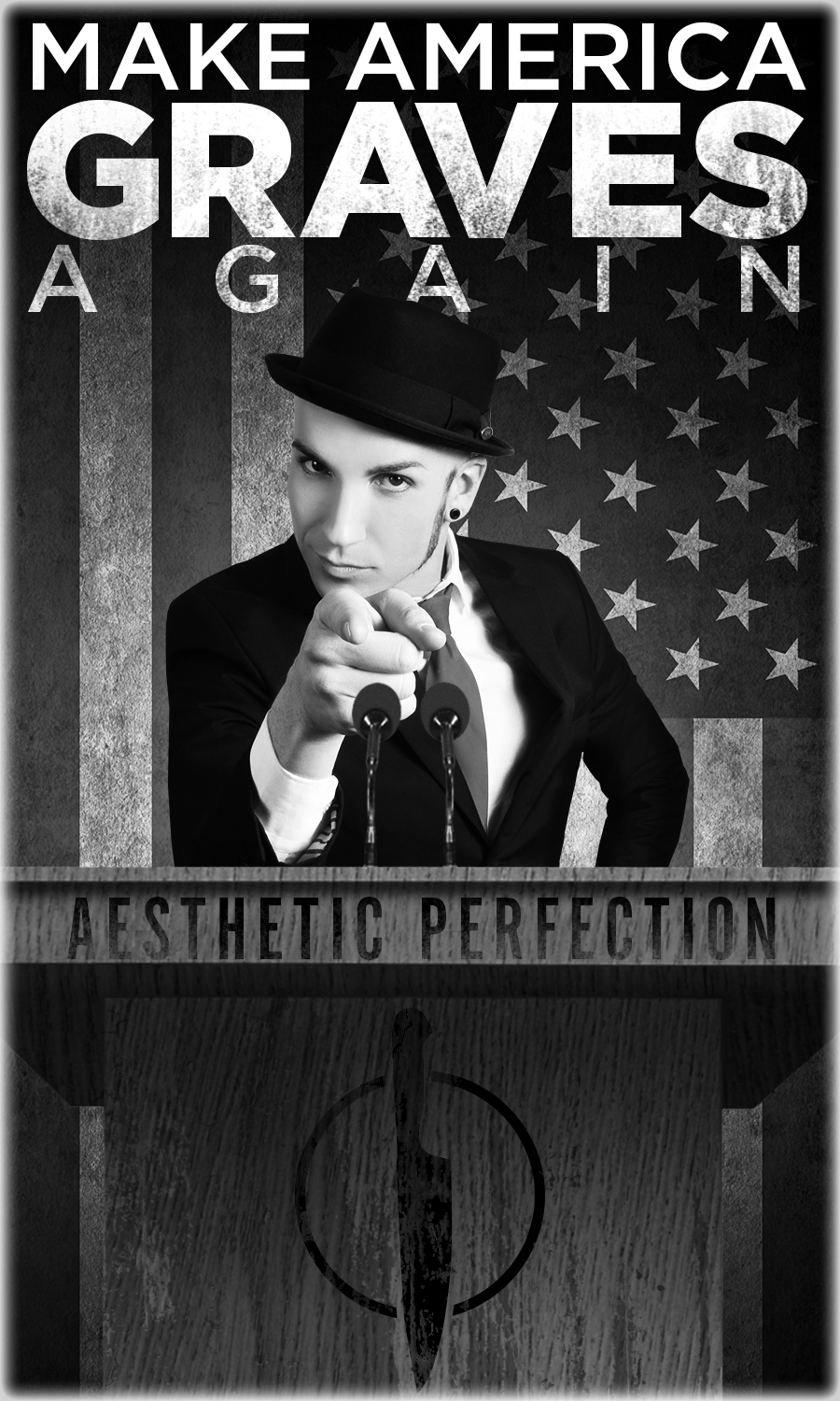 Aesthetic Perfection Make America Graves Again Sticker
